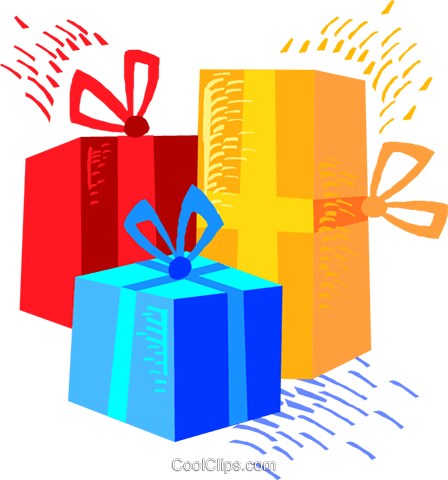 Christmas gifts Royalty Free Vector Clip Art illustration vc018746