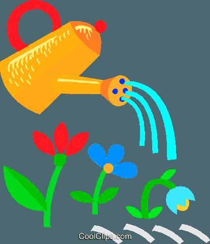 image Despues de regar las plantas se toca