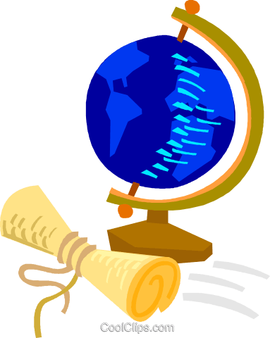 World globe with map Royalty Free Vector Clip Art illustration vc018753