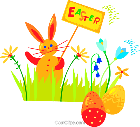 Easter bunny Royalty Free Vector Clip Art illustration vc018776
