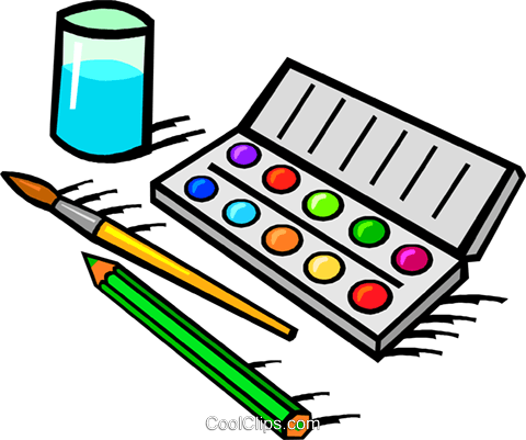 Aquarell Malen Gesetzt Vektor Clipart Bild Vc018779 Coolclips Com