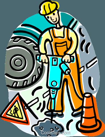 Bauarbeiter clipart schwarz weiß  Bauarbeiter Vektor Clipart Bild -vc018802-CoolCLIPS.com