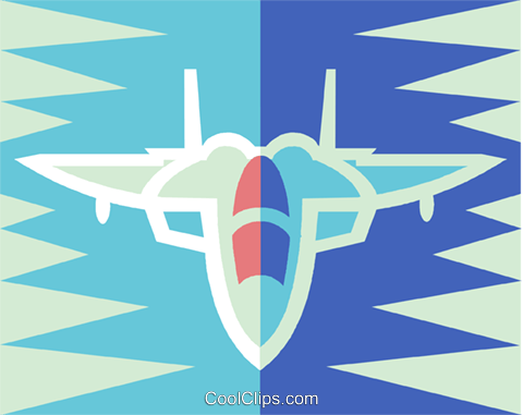 jet fighter Royalty Free Vector Clip Art illustration vc018941