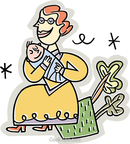 Woman with a baby Royalty Free Vector Clip Art illustration vc019012