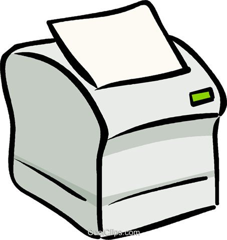Computer printer Royalty Free Vector Clip Art illustration vc019113
