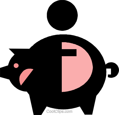 piggy bank Royalty Free Vector Clip Art illustration vc019176