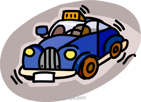 taxicab Royalty Free Vector Clip Art illustration vc019474