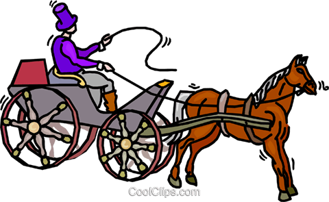 person driving a horse and buggy royalty free vector clip art rh search coolclips com Horse and Carriage Silhouette amish horse and buggy clipart