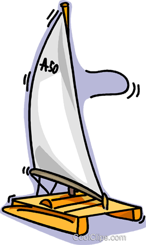 catamarans Royalty Free Vector Clip Art illustration vc019561