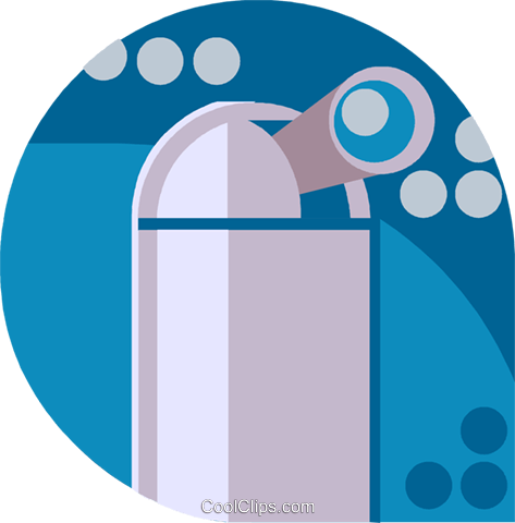 observatory Royalty Free Vector Clip Art illustration vc019739