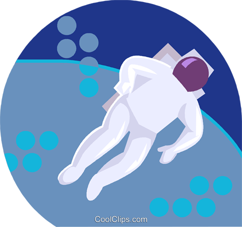 astronaut Royalty Free Vector Clip Art illustration vc019746