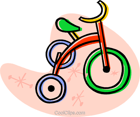 tricycle Royalty Free Vector Clip Art illustration vc019791