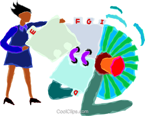 woman using a rolodex Royalty Free Vector Clip Art illustration vc020048