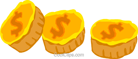 coins Royalty Free Vector Clip Art illustration vc020063