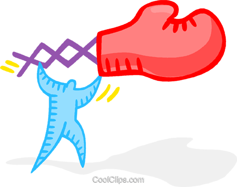 boxing glove Royalty Free Vector Clip Art illustration vc020107
