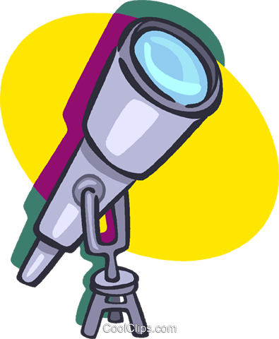 telescope Royalty Free Vector Clip Art illustration vc020174