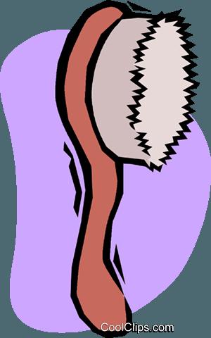 Hair Brush Royalty Free Vector Clip Art Illustration