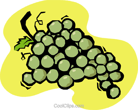 grapes Royalty Free Vector Clip Art illustration vc020207