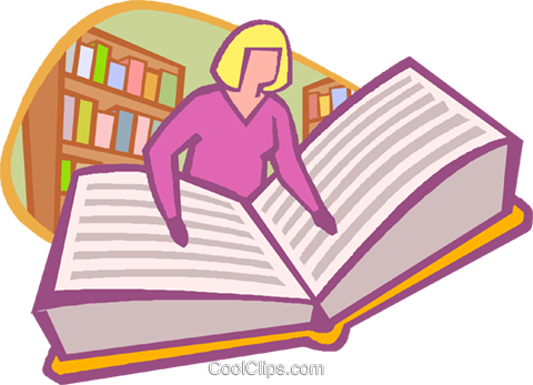 Woman reading book Royalty Free Vector Clip Art illustration vc020232