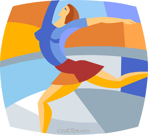 figure skater Royalty Free Vector Clip Art illustration vc020330
