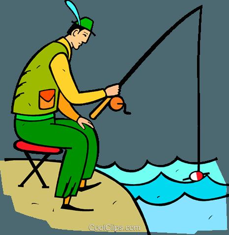 бесплатный вектор рыбак