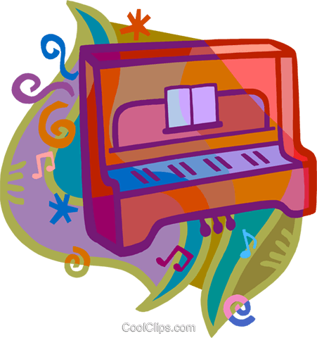 piano Royalty Free Vector Clip Art illustration vc020457