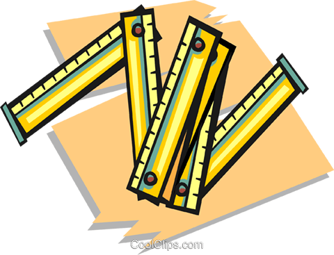 rulers Royalty Free Vector Clip Art illustration vc020498