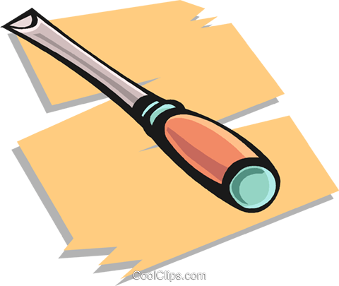 chisel Royalty Free Vector Clip Art illustration vc020502