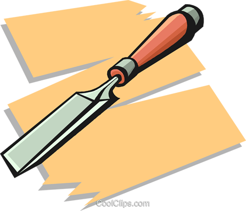 chisel Royalty Free Vector Clip Art illustration vc020562