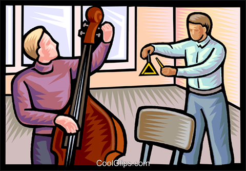 music lessons Royalty Free Vector Clip Art illustration vc020600