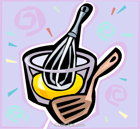 Mixing Bowl And Whisk Royalty Free Vector Clip Art Illustration Vc020609 Coolclips Com