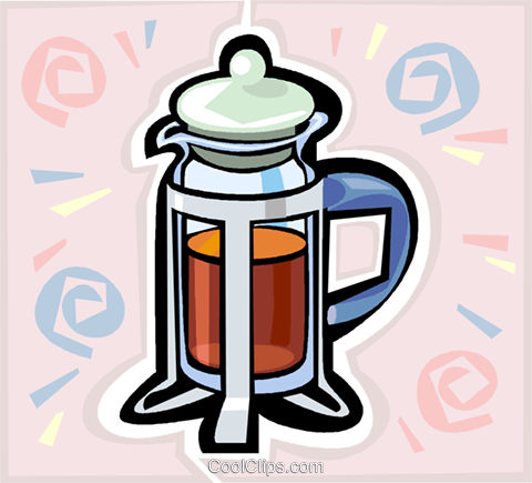 coffee pot Royalty Free Vector Clip Art illustration vc020619