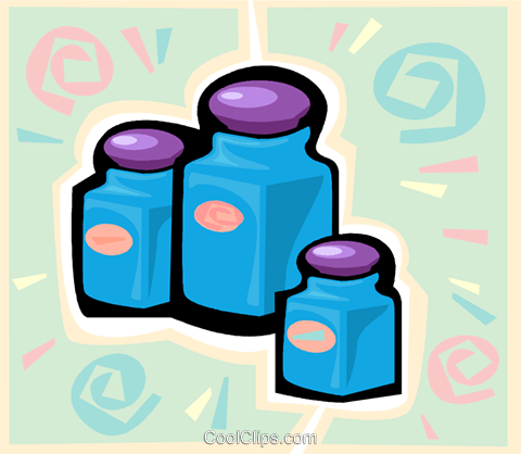 jars Royalty Free Vector Clip Art illustration vc020622