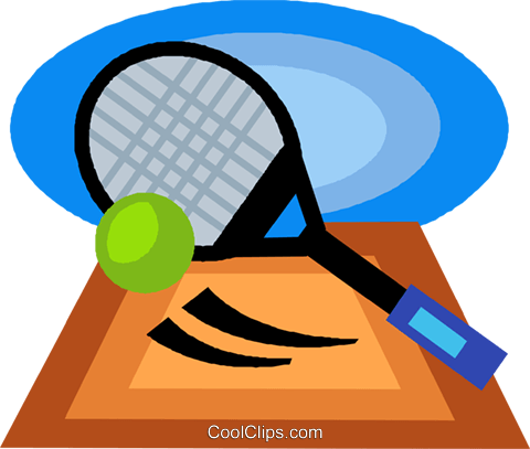 tennis racket and ball Royalty Free Vector Clip Art illustration vc020722