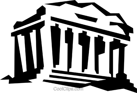 acropolis in Athens Greece Royalty Free Vector Clip Art illustration vc020976