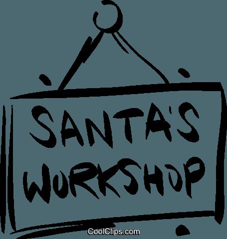 Santa's Workshop Zeichen Vektor Clipart Bild -vc021063 ...
