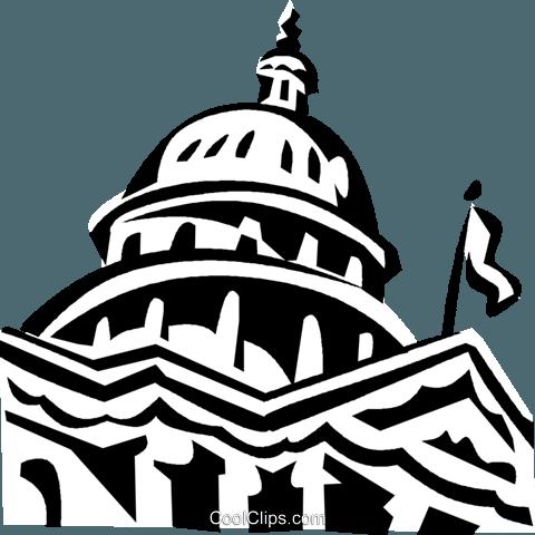 capitol building in washington d c royalty free vector clip art rh search coolclips com us capitol building clipart capitol building clipart free
