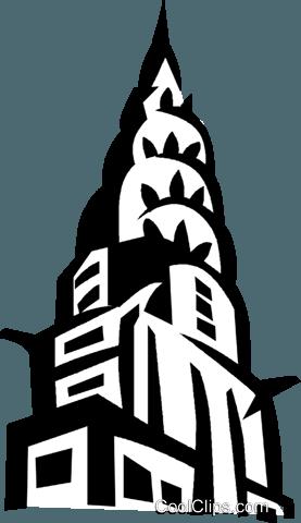 Chrysler Building New York Royalty Free Vector Clip Art ...
