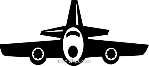 commercial aircraft Royalty Free Vector Clip Art illustration vc021163