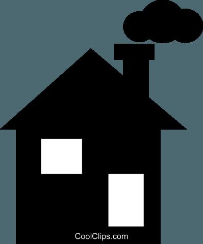 Haus Mit Einem Schornstein Vektor Clipart Bild Vc021295 Coolclips Com