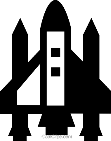 space shuttle Royalty Free Vector Clip Art illustration vc021302