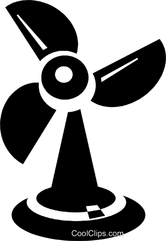 electric fans Royalty Free Vector Clip Art illustration vc021312