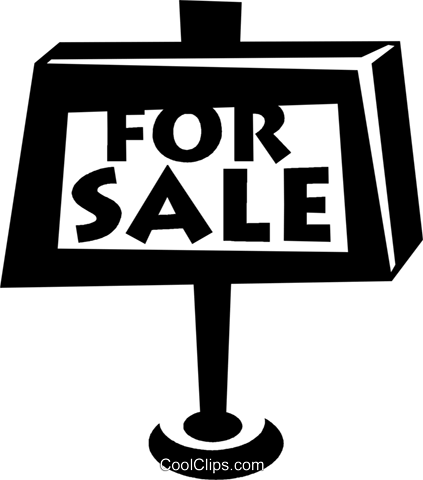 for sale sign Royalty Free Vector Clip Art illustration vc021428