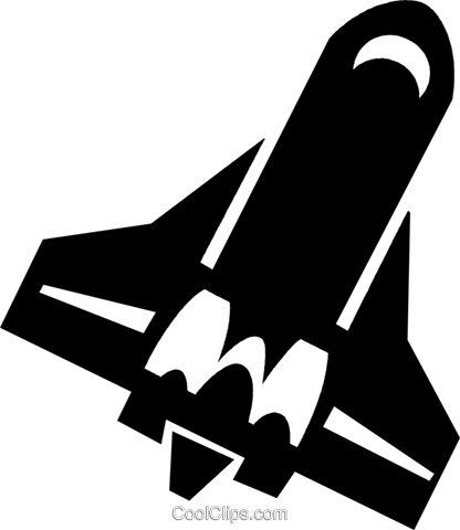 space shuttle Royalty Free Vector Clip Art illustration vc021470