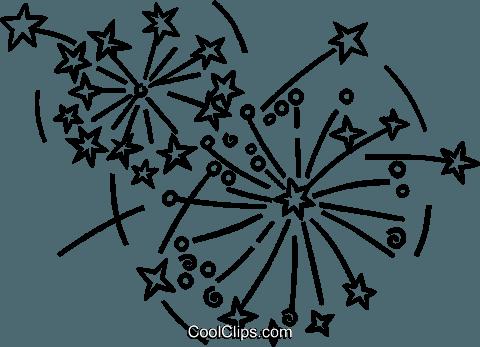 Fuegos Artificiales Libres De Derechos Ilustraciones De Vectores