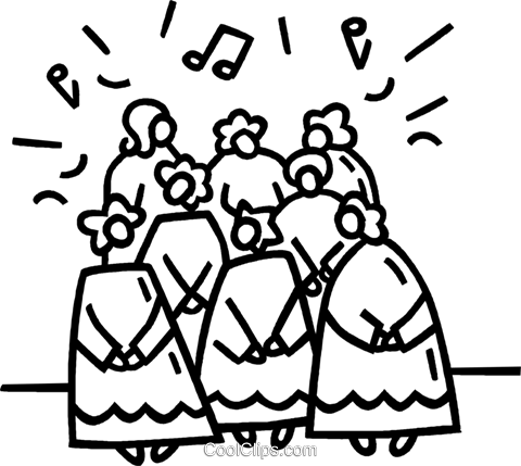 church choir Royalty Free Vector Clip Art illustration vc021503