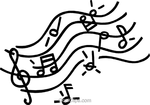 Musical notes royalty free vector clip art illustration for Note musicali dwg
