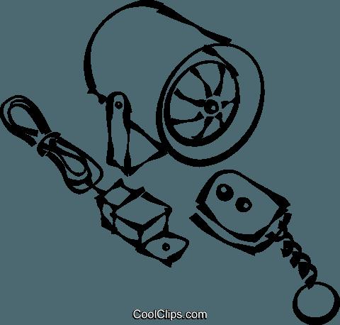 Car Alarm System Royalty Free Vector Clip Art Illustration Vc021692