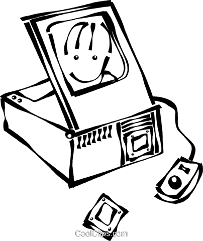 computer scanners Royalty Free Vector Clip Art illustration vc021707