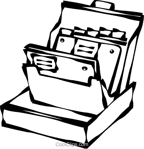 Büromaterial clipart  Karteikarten Vektor Clipart Bild -vc021752-CoolCLIPS.com